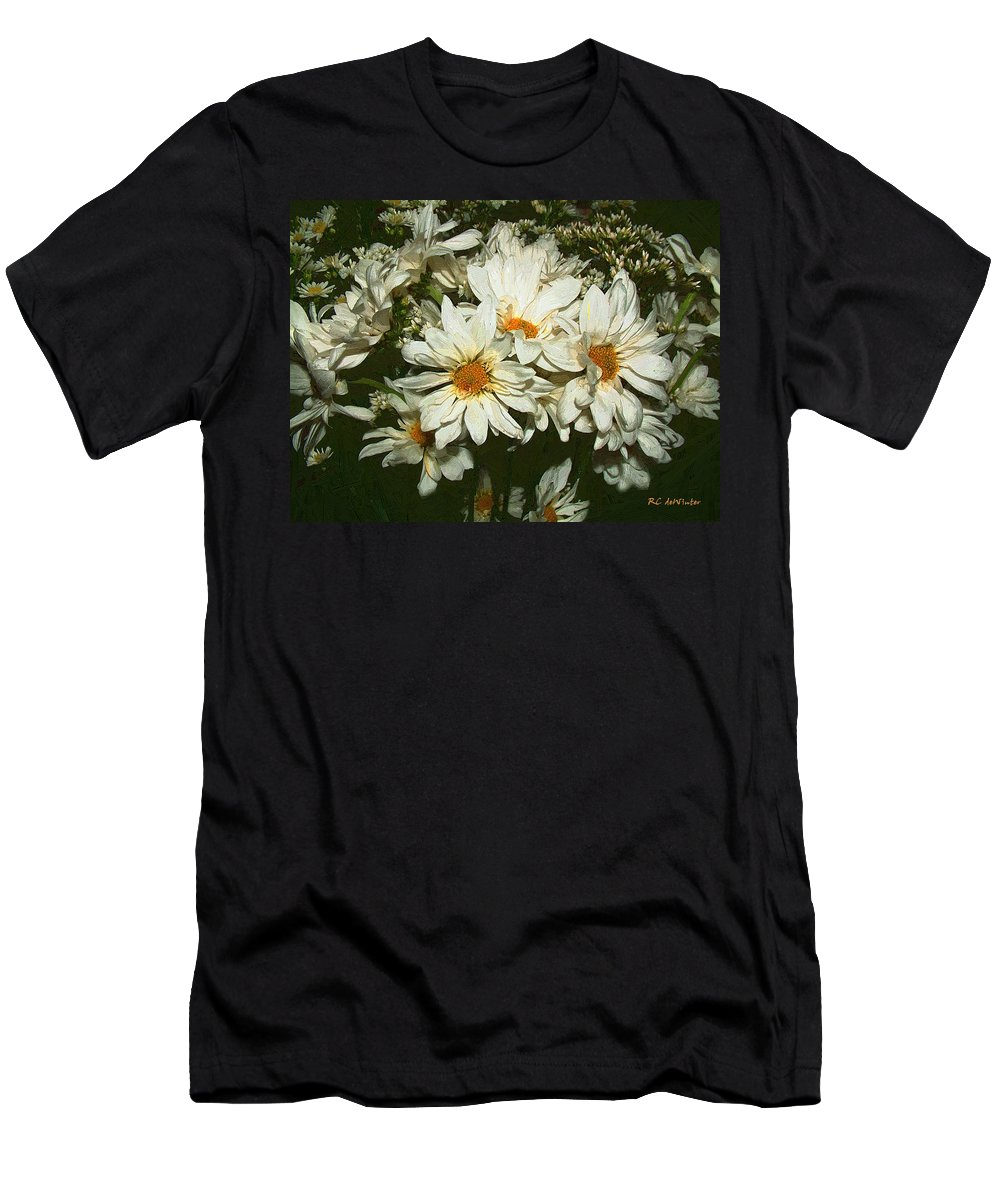 Bouquet Men's T-Shirt (Athletic Fit) featuring the painting The Infinite Shades Of White by RC DeWinter