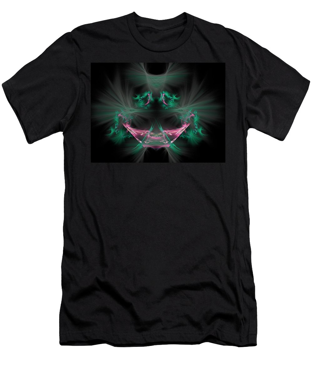 Fractal Men's T-Shirt (Athletic Fit) featuring the painting The Joker by Bruce Nutting