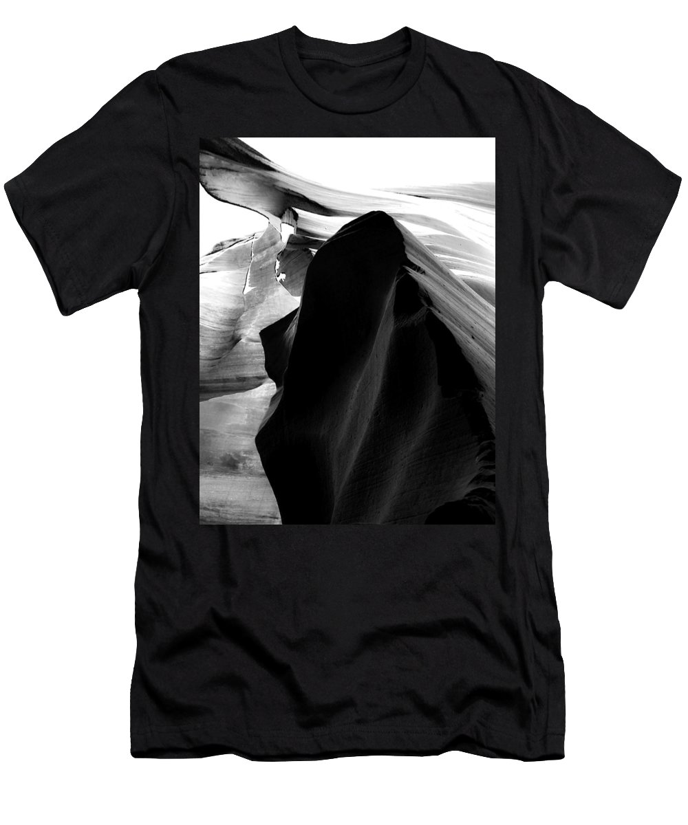 B&w Men's T-Shirt (Athletic Fit) featuring the mixed media The King by Lovejoy Creations