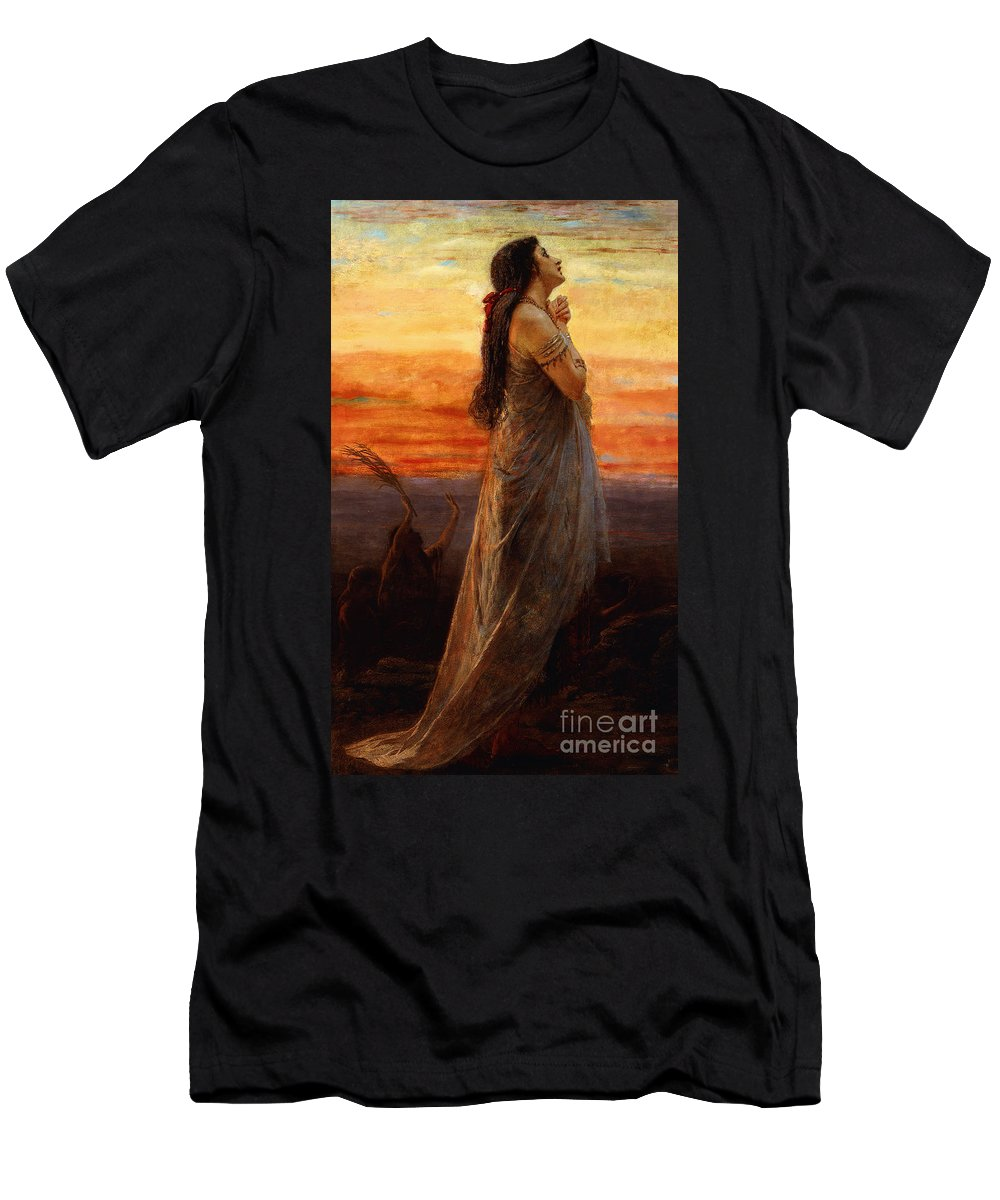Bereavement Men's T-Shirt (Athletic Fit) featuring the painting The Lament Of Jephthahs Daughter by George Elgar Hicks