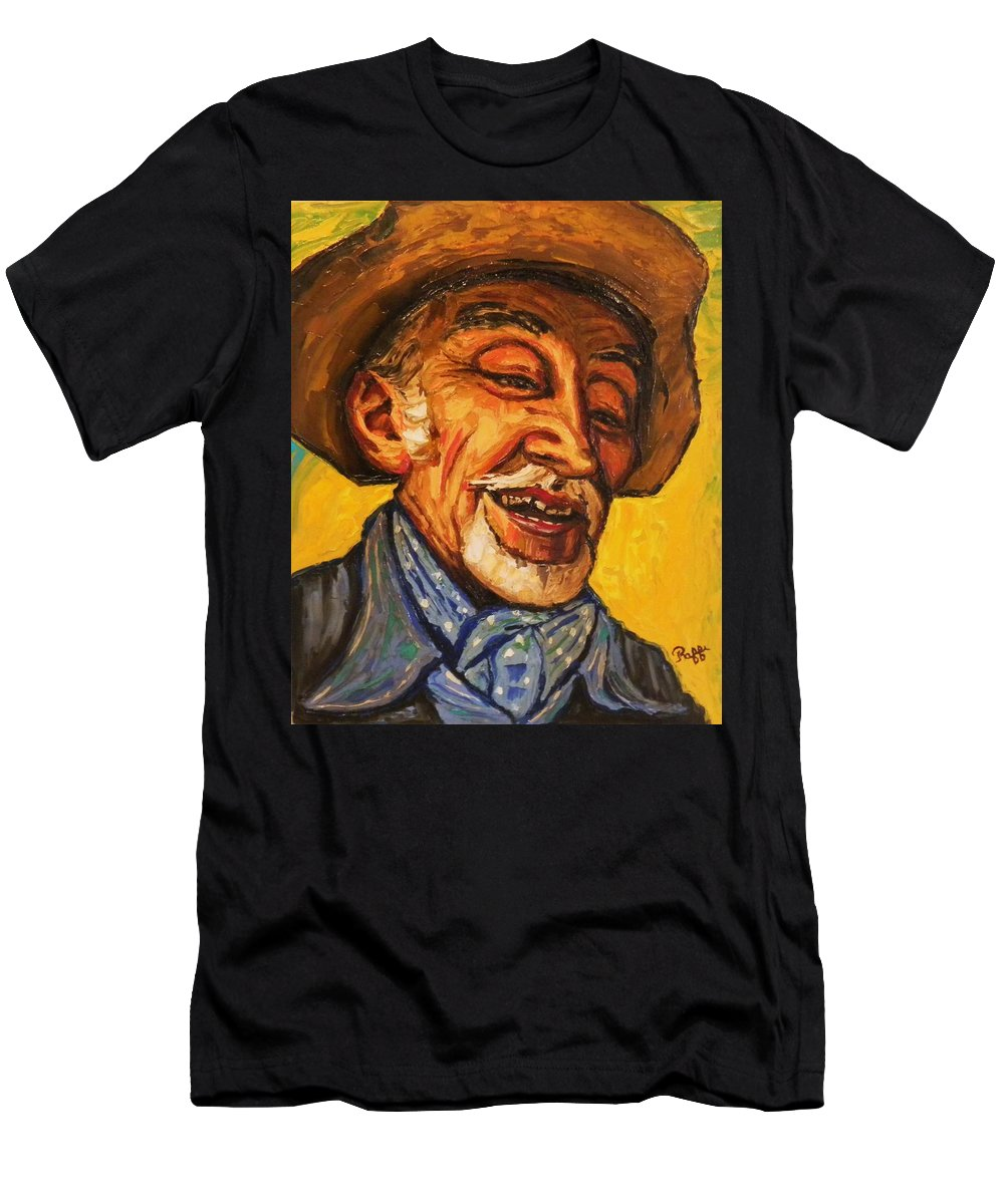 Men's T-Shirt (Athletic Fit) featuring the painting The Laughing Cavalier by Raffi Jacobian