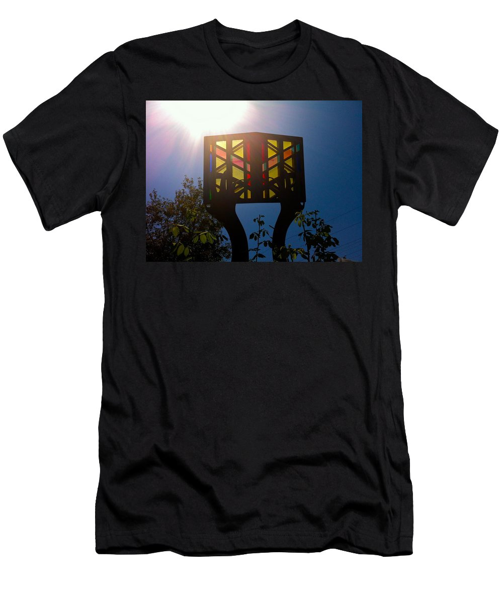Book Men's T-Shirt (Athletic Fit) featuring the photograph The Light Of Knowledge by Denise Mazzocco