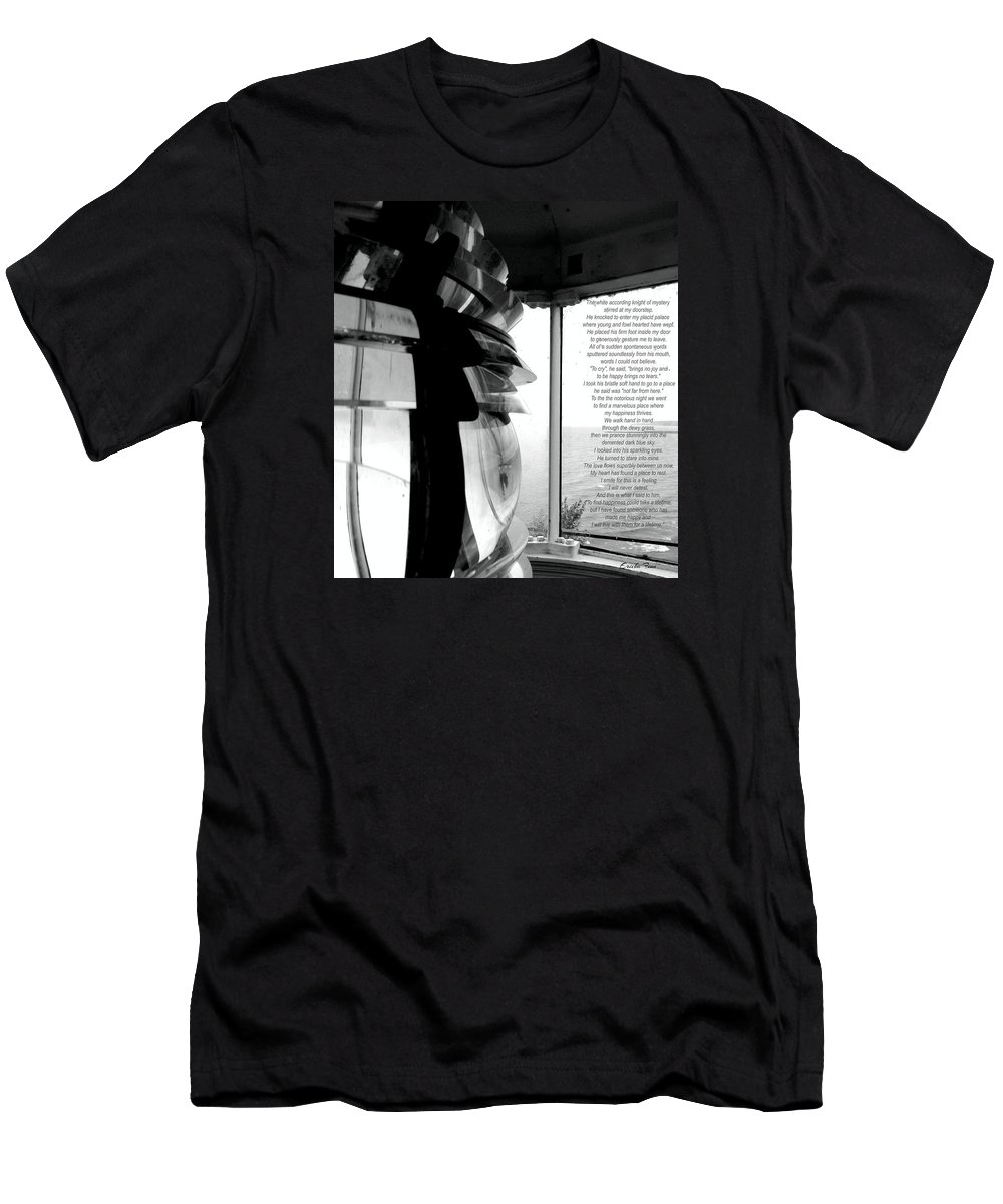 Lighthouse Men's T-Shirt (Athletic Fit) featuring the photograph The Lighthouse by Ericka Finn