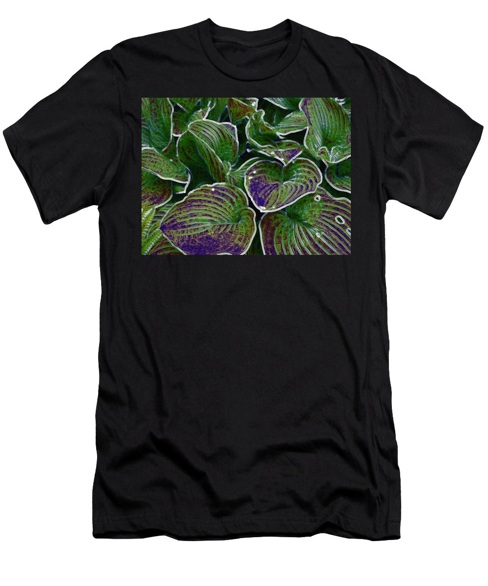 Creek Men's T-Shirt (Athletic Fit) featuring the mixed media The Little Pond by Pepita Selles