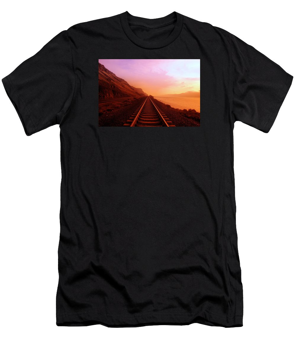 Columbia River T-Shirt featuring the photograph The Long Walk To No Where by Jeff Swan