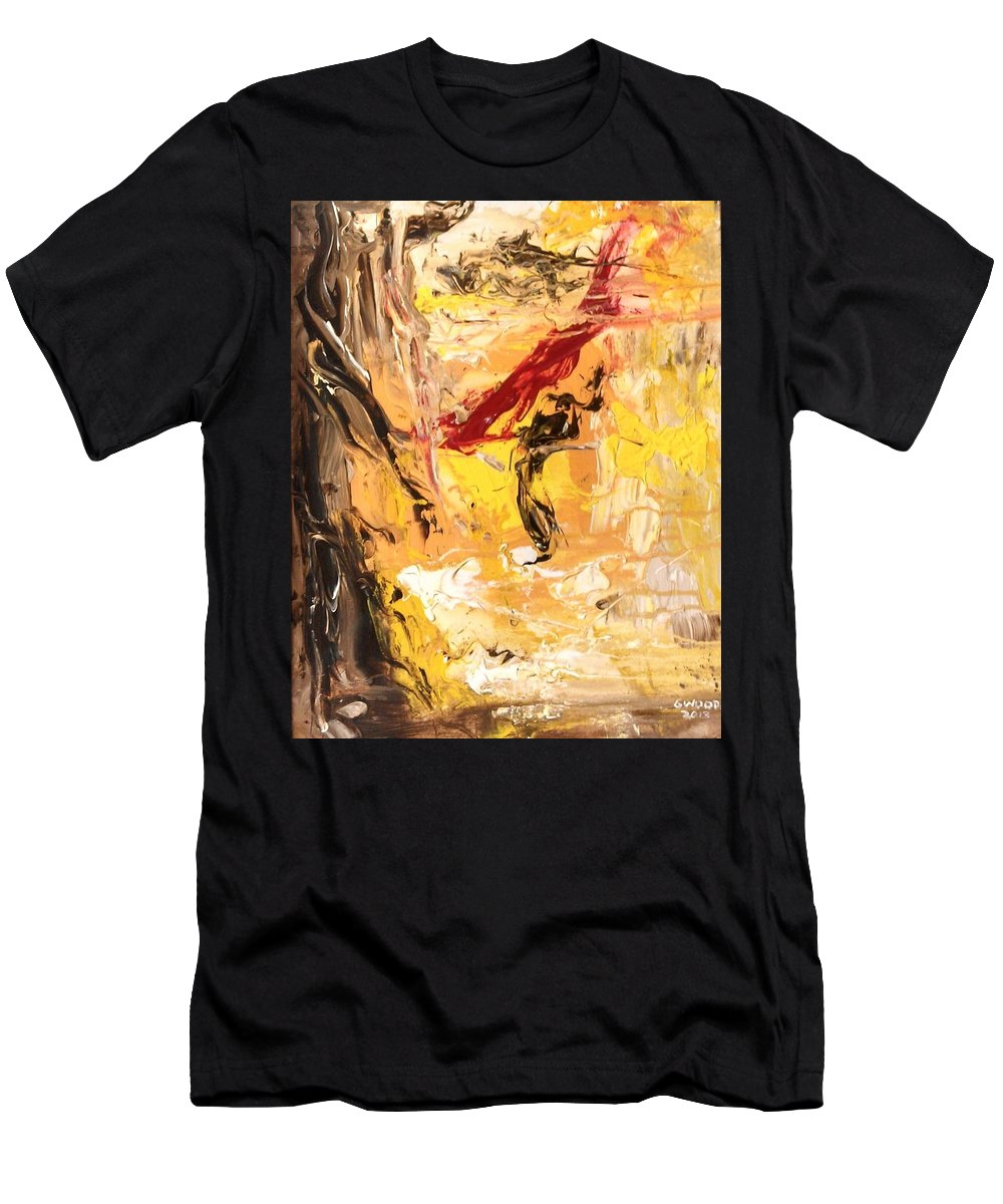 Impressionist Men's T-Shirt (Athletic Fit) featuring the painting The Matador by Patricia Wood