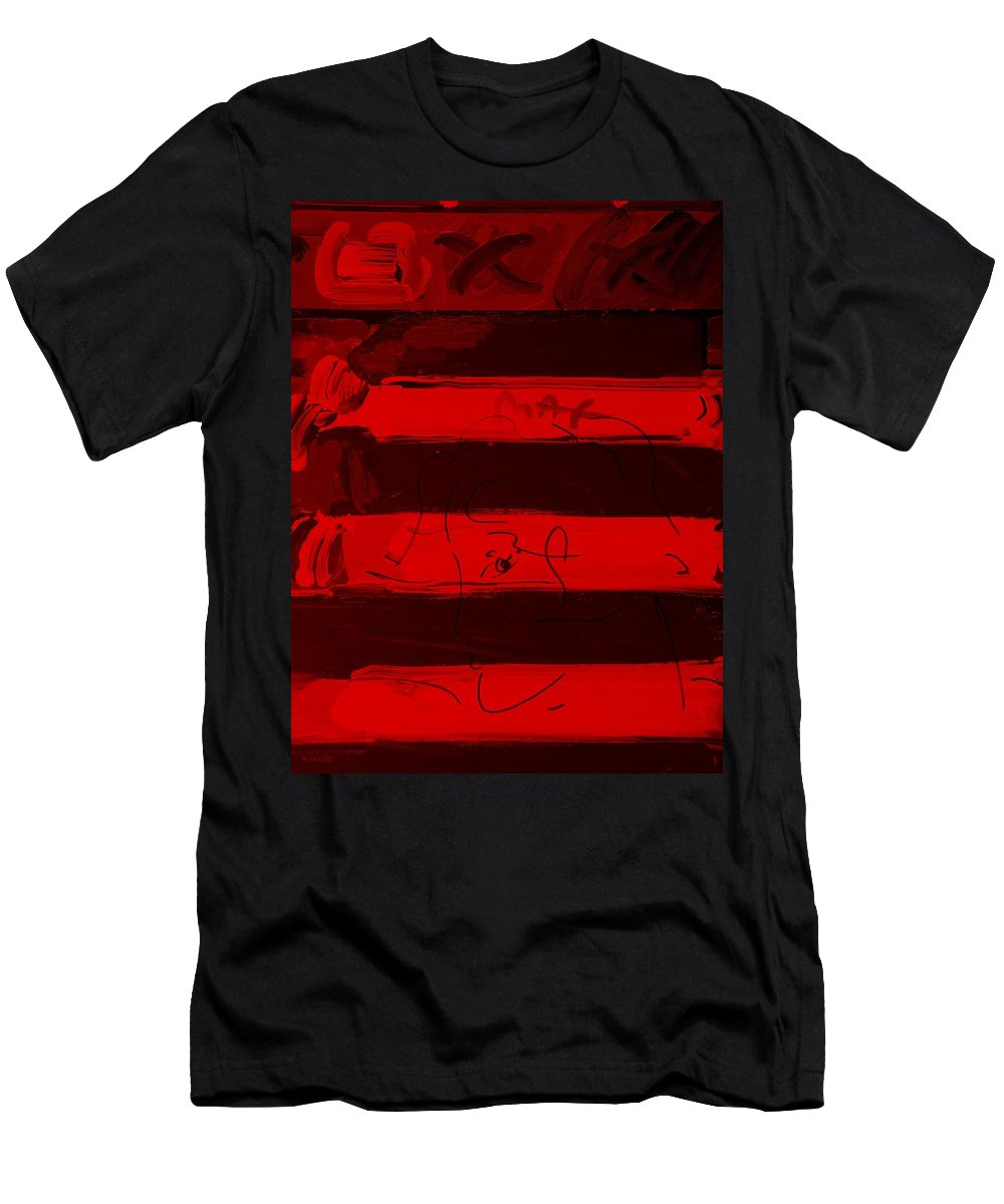 Modern Men's T-Shirt (Athletic Fit) featuring the photograph The Max Face In Red by Rob Hans