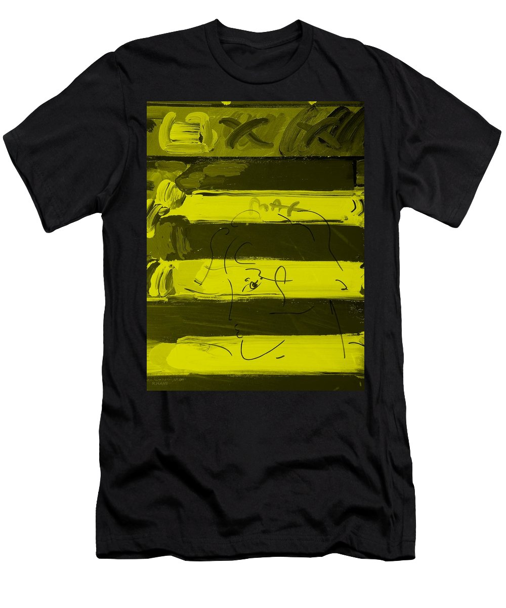 Modern Men's T-Shirt (Athletic Fit) featuring the photograph The Max Face In Yellow by Rob Hans