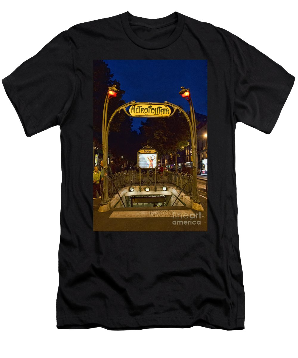 Europe Men's T-Shirt (Athletic Fit) featuring the photograph The Metropolitain #2 by Crystal Nederman
