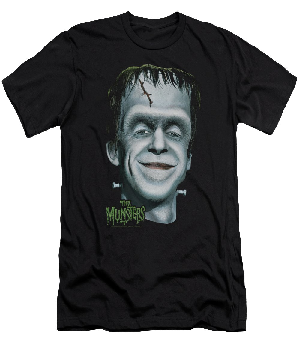 The Munsters T-Shirt featuring the digital art The Munsters - Herman's Head by Brand A