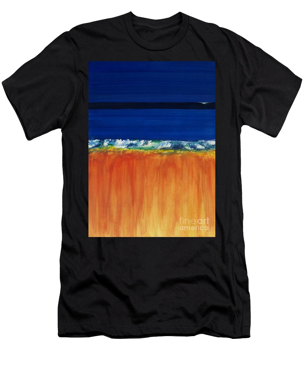 Oceans Men's T-Shirt (Athletic Fit) featuring the painting The Next Big Wave by Frances Marino