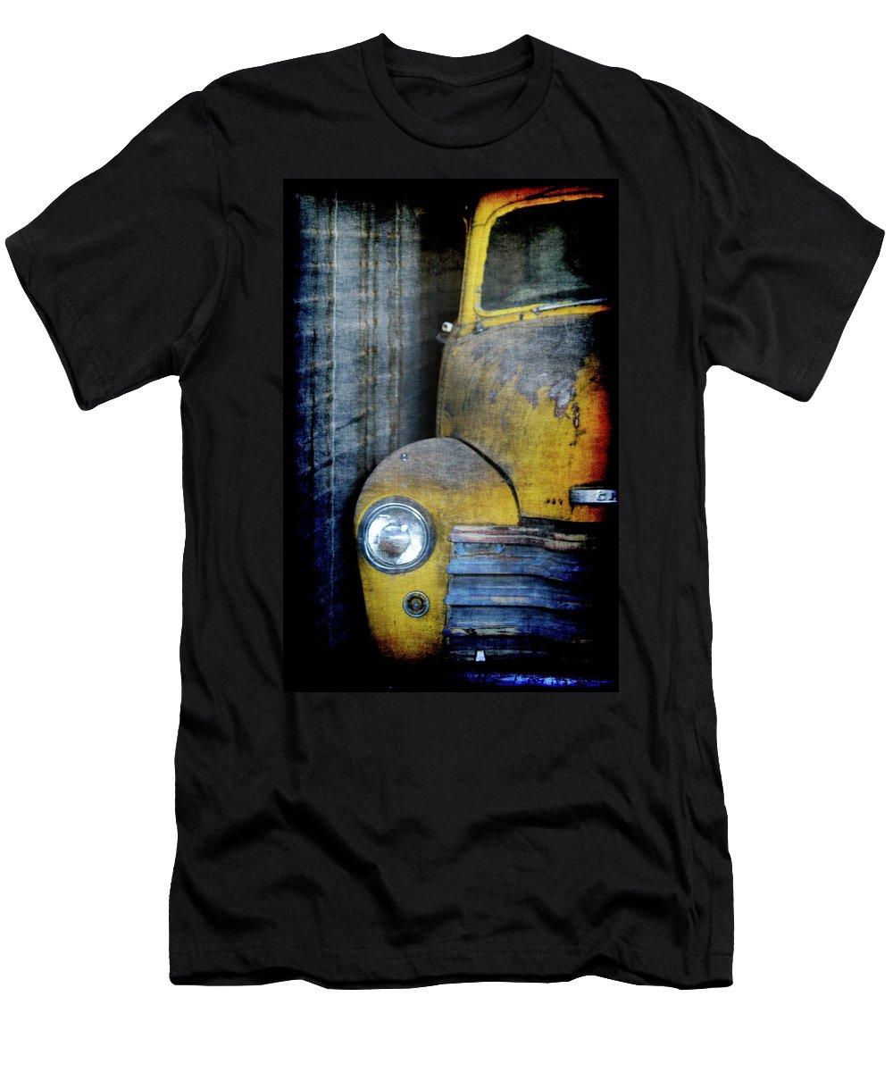 Truck Men's T-Shirt (Athletic Fit) featuring the digital art The Ol Chevy by Ernie Echols