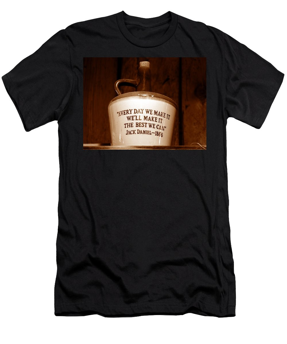Jack Daniel Wiskey Men's T-Shirt (Athletic Fit) featuring the photograph The Old Jug by David Lee Thompson