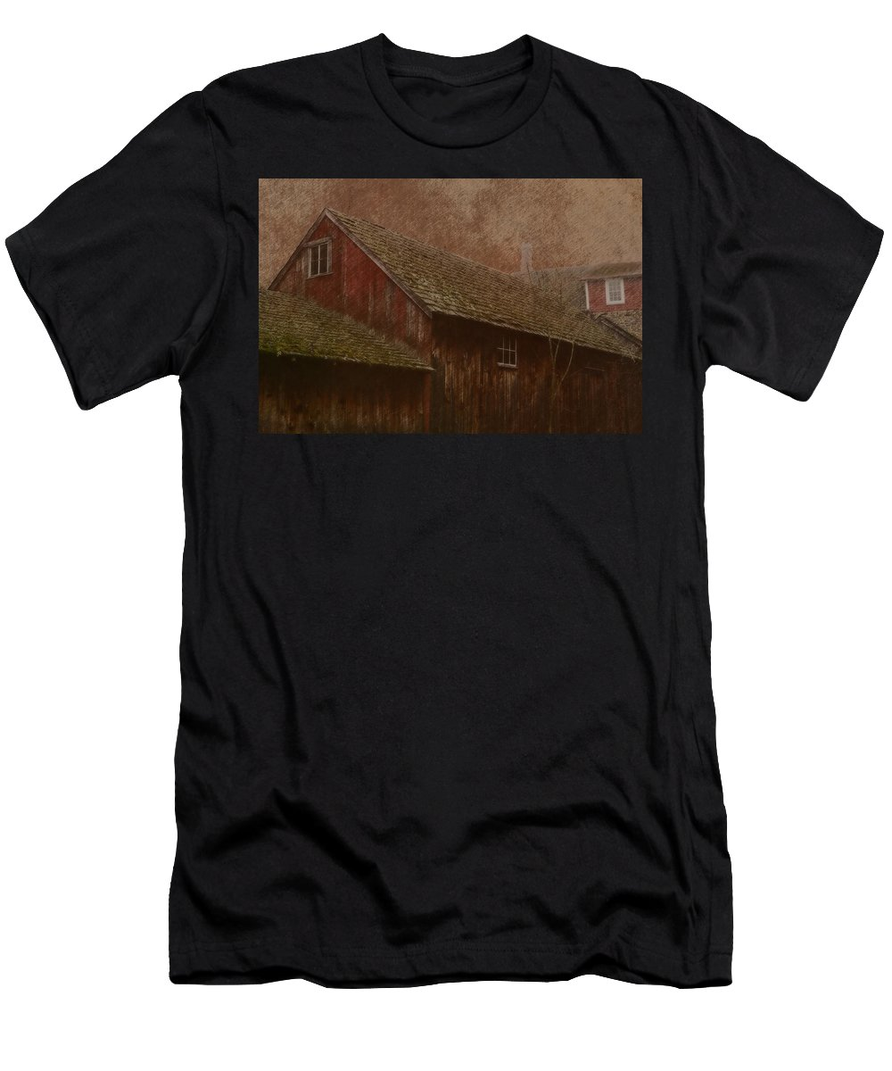The Old Mill Men's T-Shirt (Athletic Fit) featuring the photograph The Old Mill by Photographic Arts And Design Studio