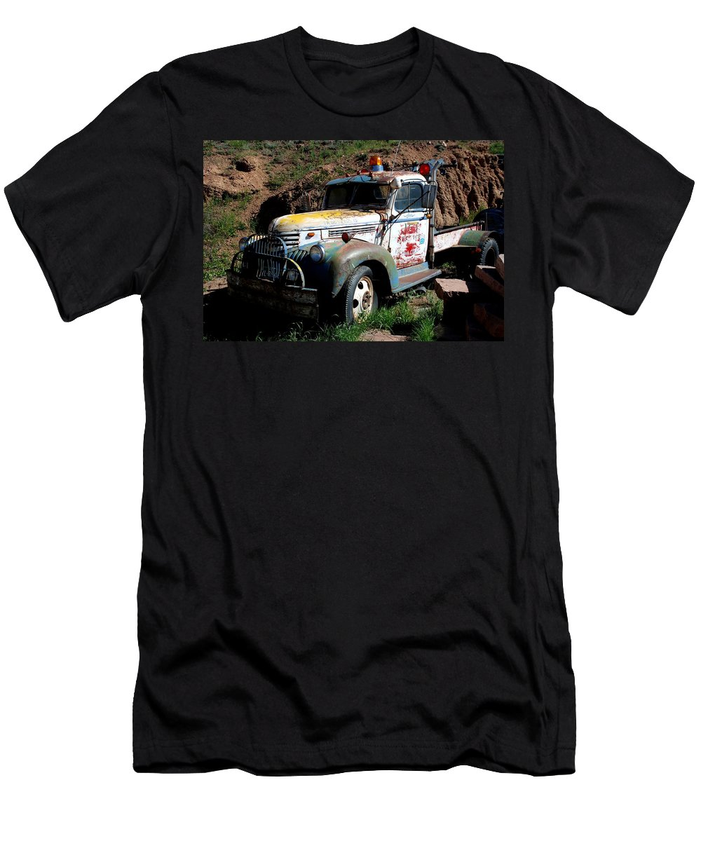 Truck Men's T-Shirt (Athletic Fit) featuring the photograph The Old Truck by Dany Lison