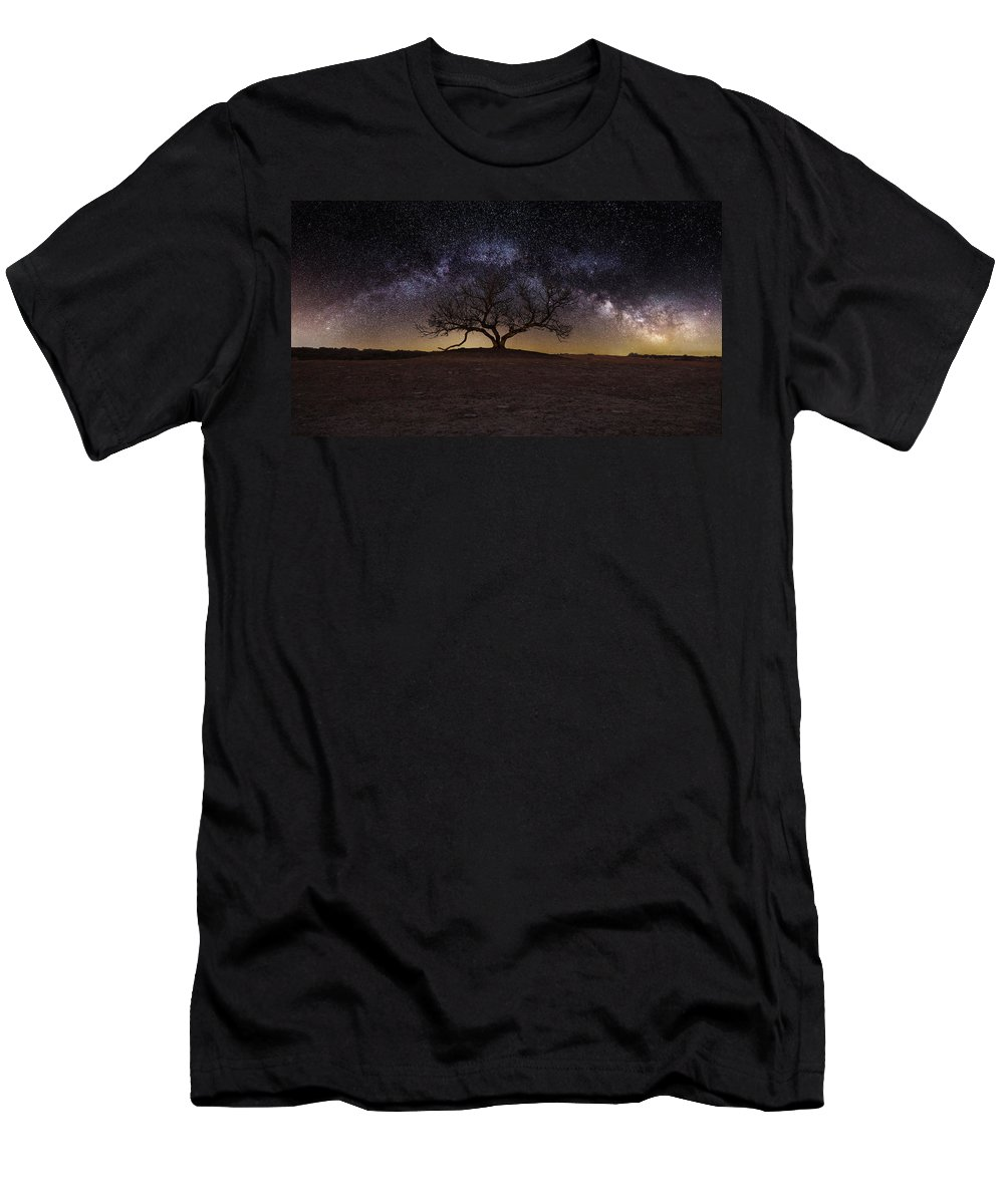 Milky Way Men's T-Shirt (Athletic Fit) featuring the photograph The One by Aaron J Groen