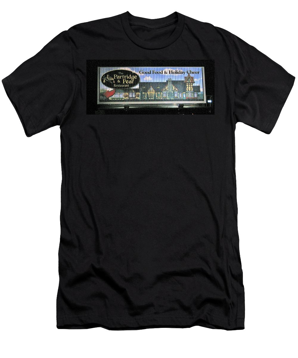 Photograph Men's T-Shirt (Athletic Fit) featuring the photograph The Partridge And Pear Restaurant by Marian Bell