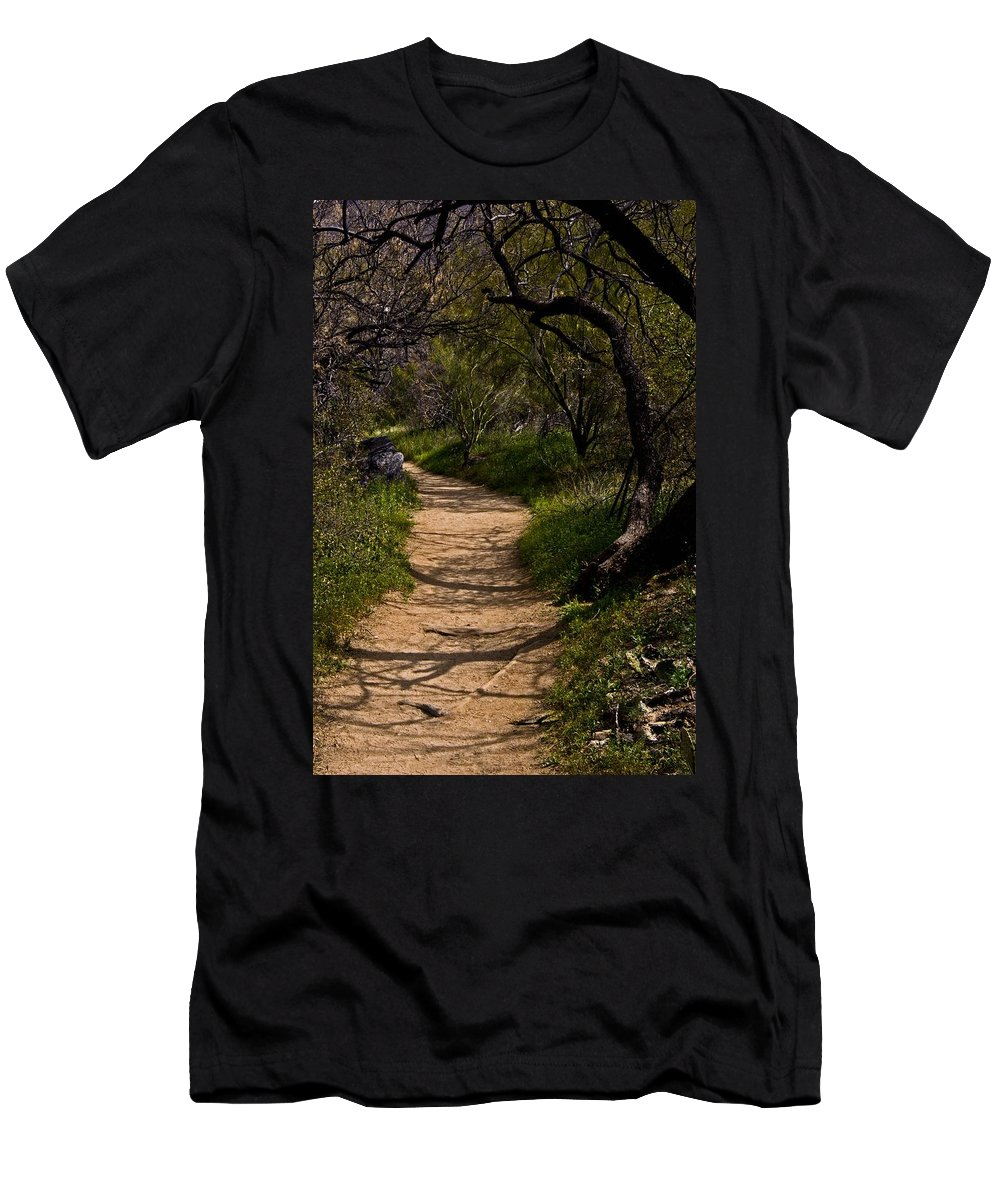 Bear Canyon Men's T-Shirt (Athletic Fit) featuring the photograph The Path by Patrick Moore