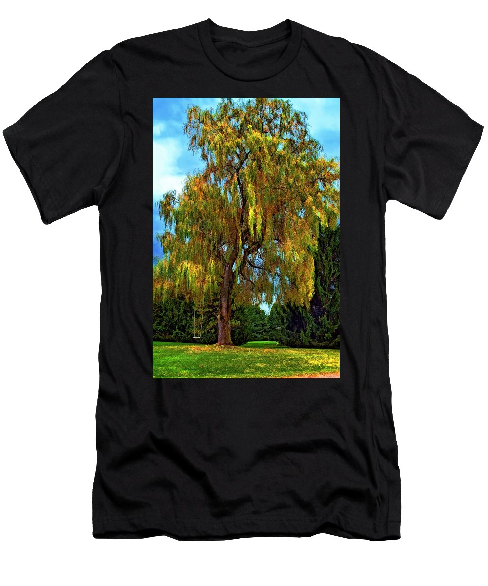Willow Men's T-Shirt (Athletic Fit) featuring the photograph The Perfect Swing II by Steve Harrington