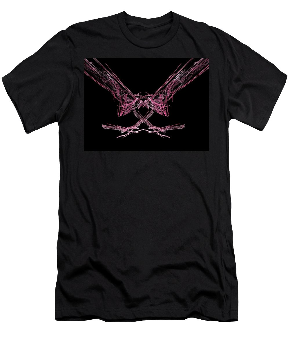 Fractal Men's T-Shirt (Athletic Fit) featuring the painting The Pink Falcon by Bruce Nutting