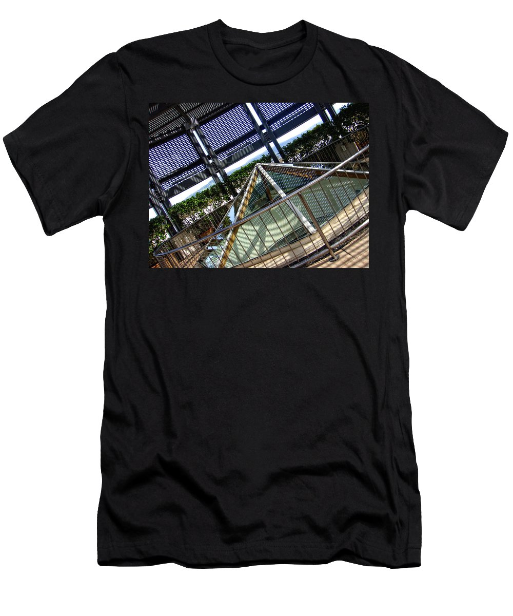 City Men's T-Shirt (Athletic Fit) featuring the photograph The Pinnacle Of Confusion by Donna Blackhall