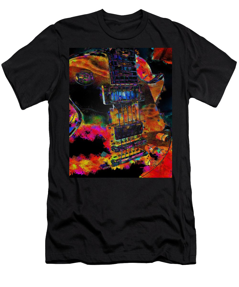 Guitar Men's T-Shirt (Athletic Fit) featuring the digital art The Player - Guitar Art by P Donovan