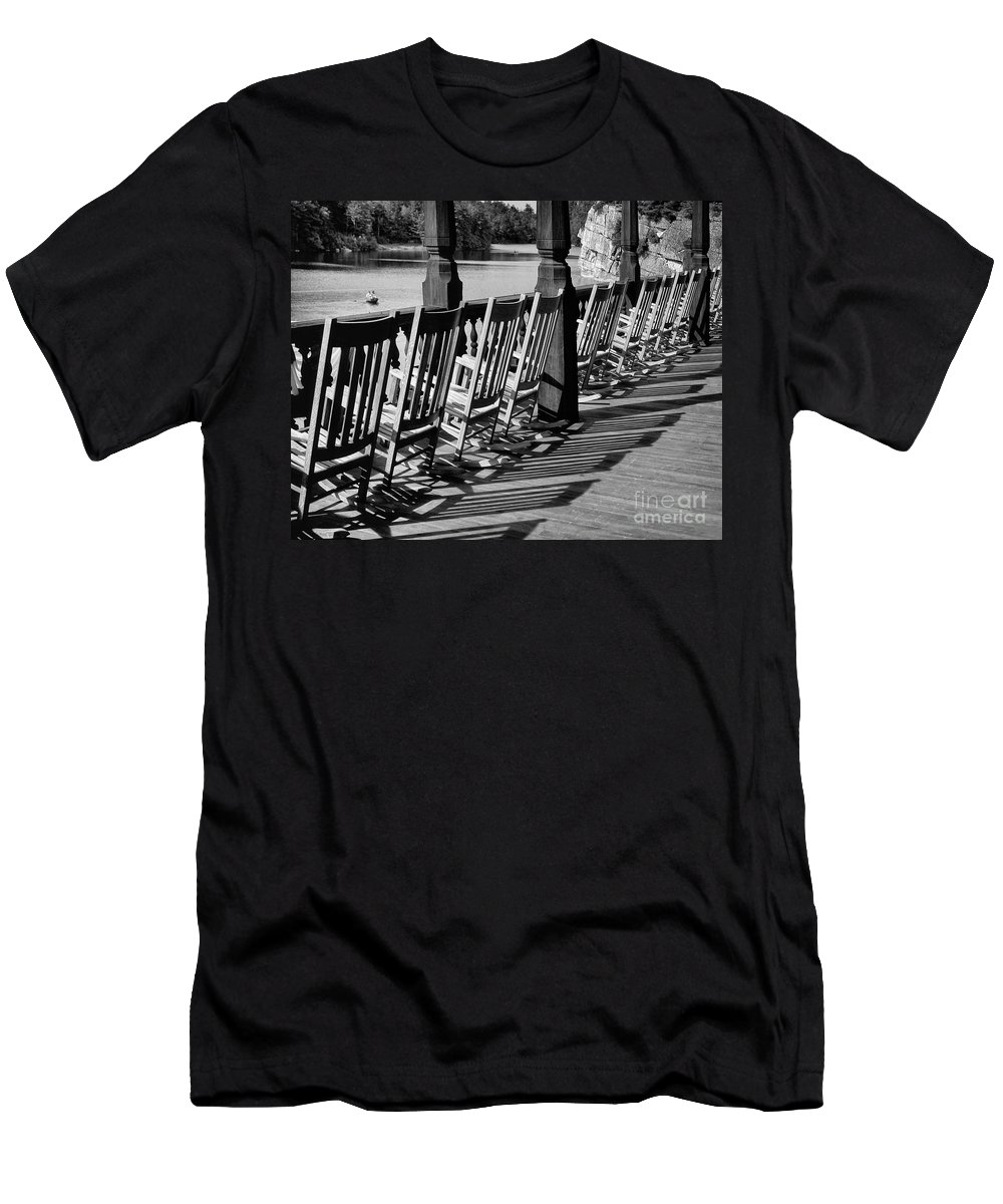 Be Men's T-Shirt (Athletic Fit) featuring the photograph The Porch by Claudia Kuhn