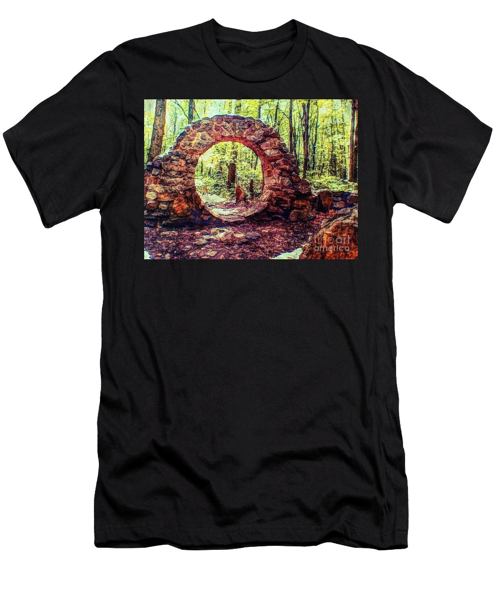 The Portal To Love Life Peace Men's T-Shirt (Athletic Fit) featuring the photograph The Portal To Love Life Peace 1 by Becky Lupe
