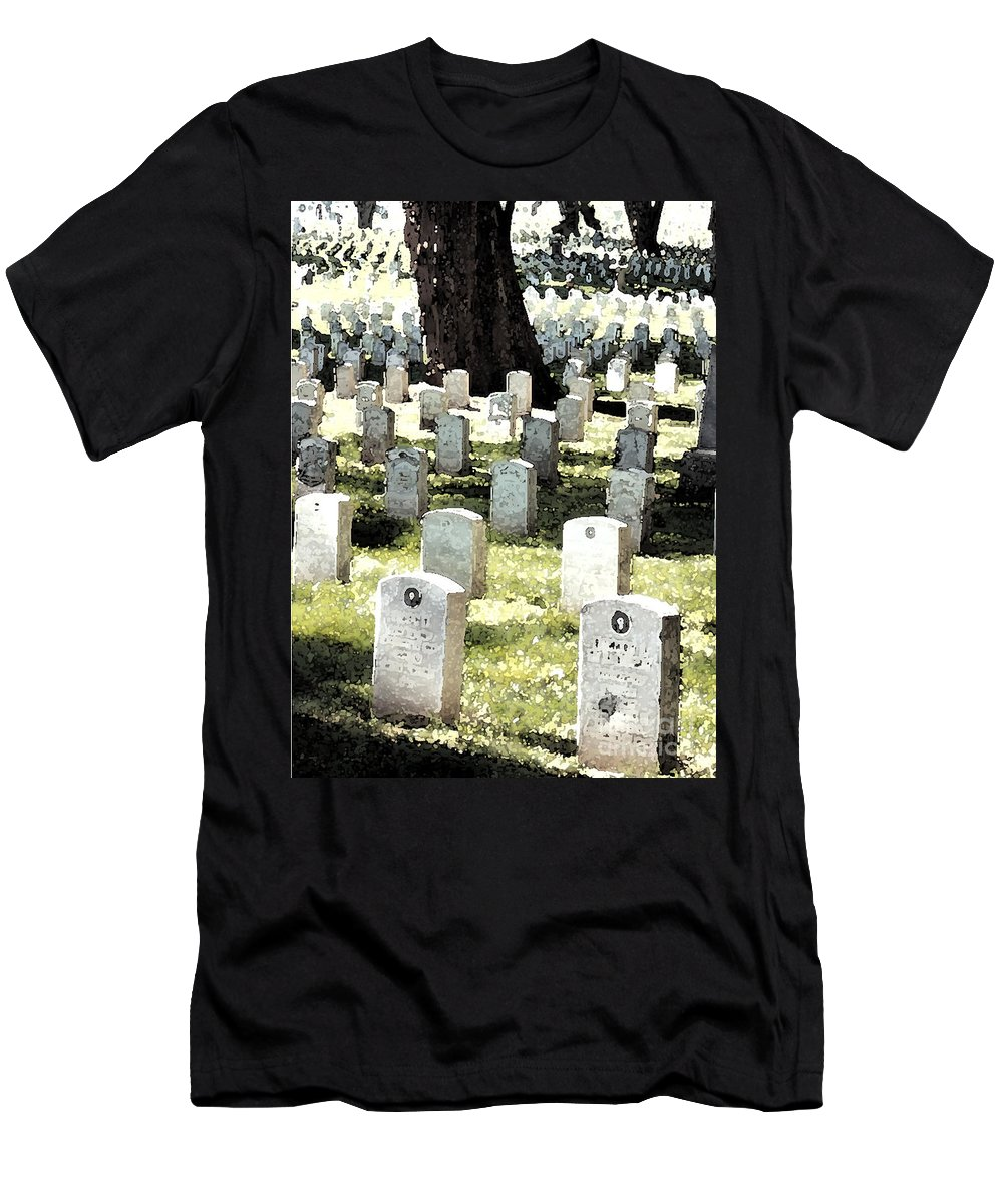 Tomb Stones Men's T-Shirt (Athletic Fit) featuring the photograph The Presidio by Flamingo Graphix John Ellis