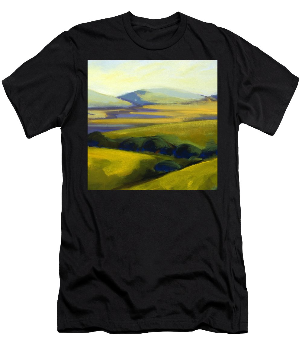 California Men's T-Shirt (Athletic Fit) featuring the painting The Promise 4 by Konnie Kim