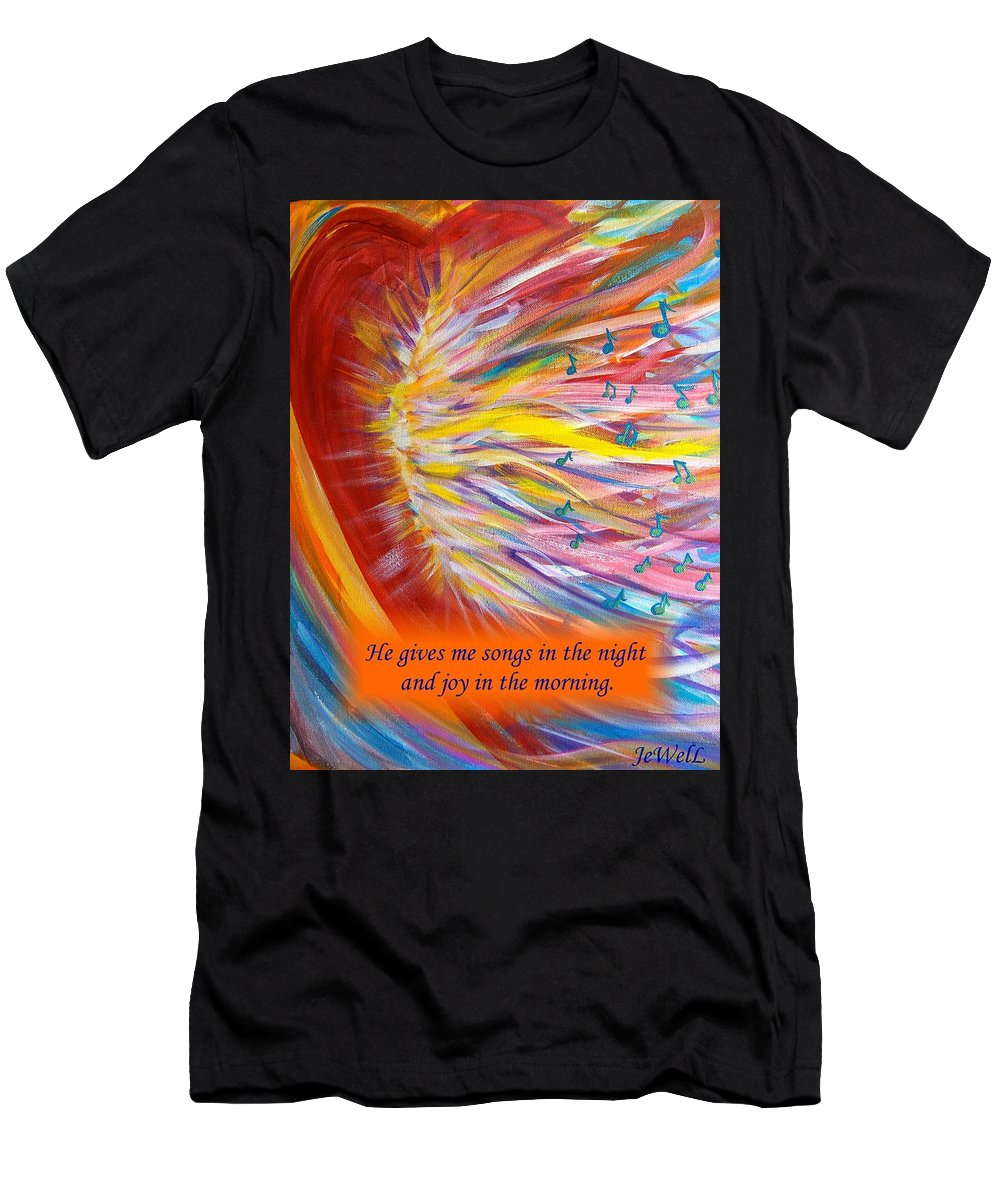Prophetic Song Men's T-Shirt (Athletic Fit) featuring the digital art The Prophetic Song by Jewell McChesney