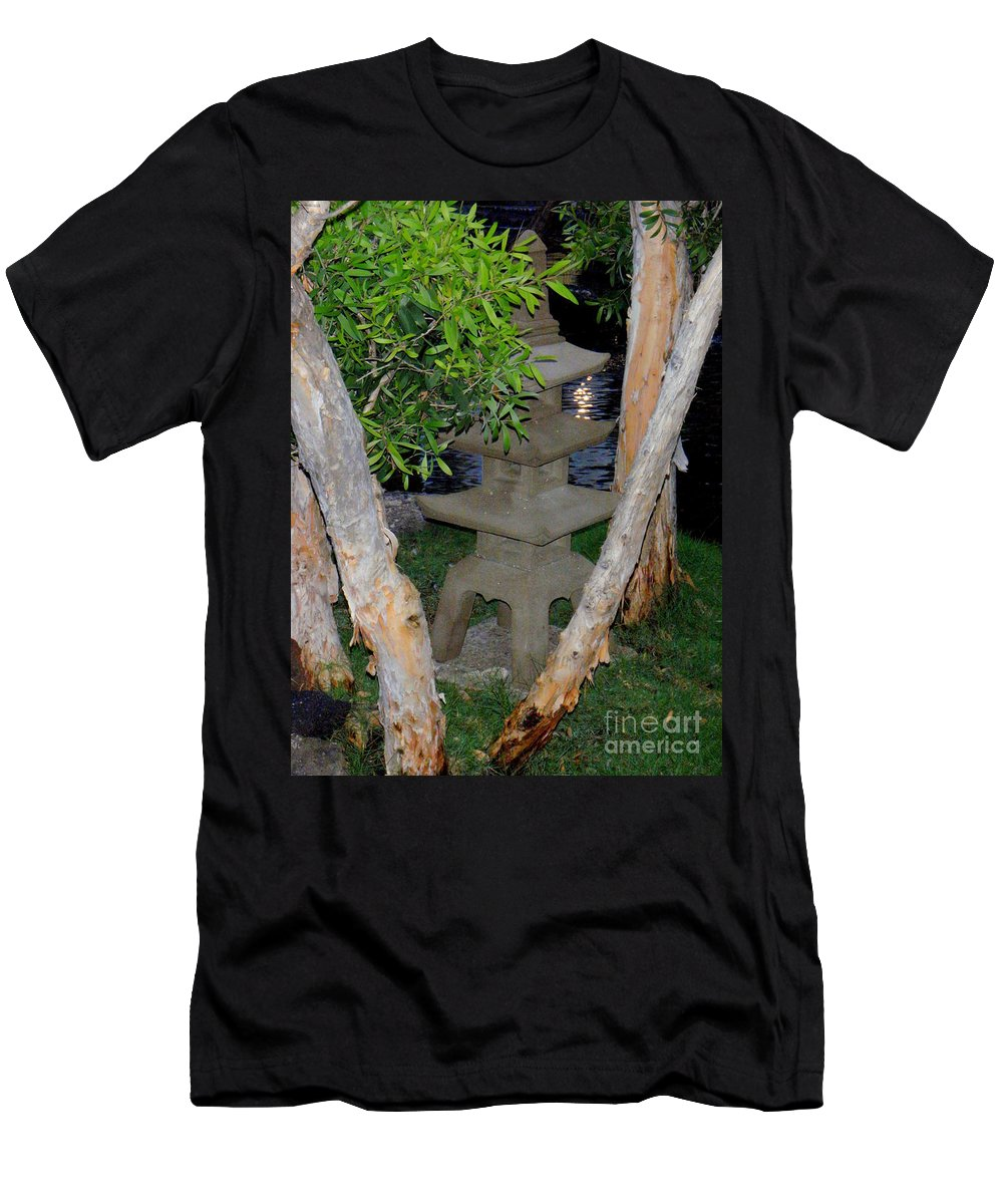 Garden Men's T-Shirt (Athletic Fit) featuring the photograph The Quiet Of Evening by Mary Deal