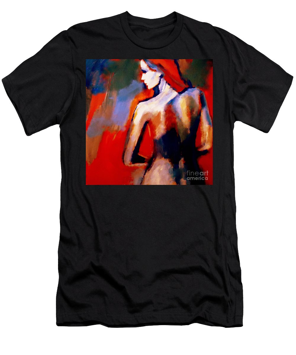 Nude Figures Men's T-Shirt (Athletic Fit) featuring the painting The Radical Lack by Helena Wierzbicki