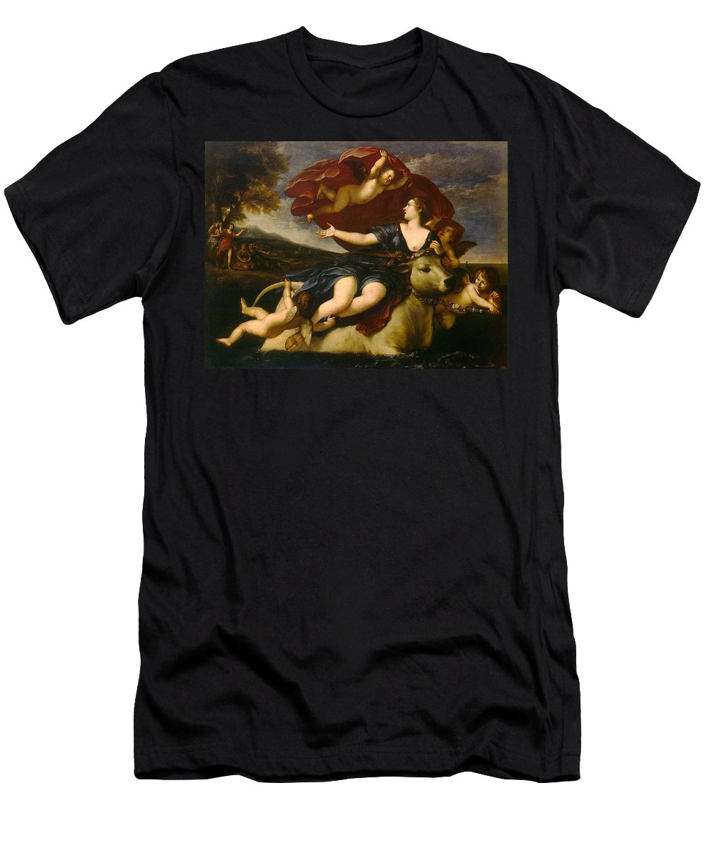 Francesco Albani Men's T-Shirt (Athletic Fit) featuring the painting The Rape Of Europa by Francesco Albani