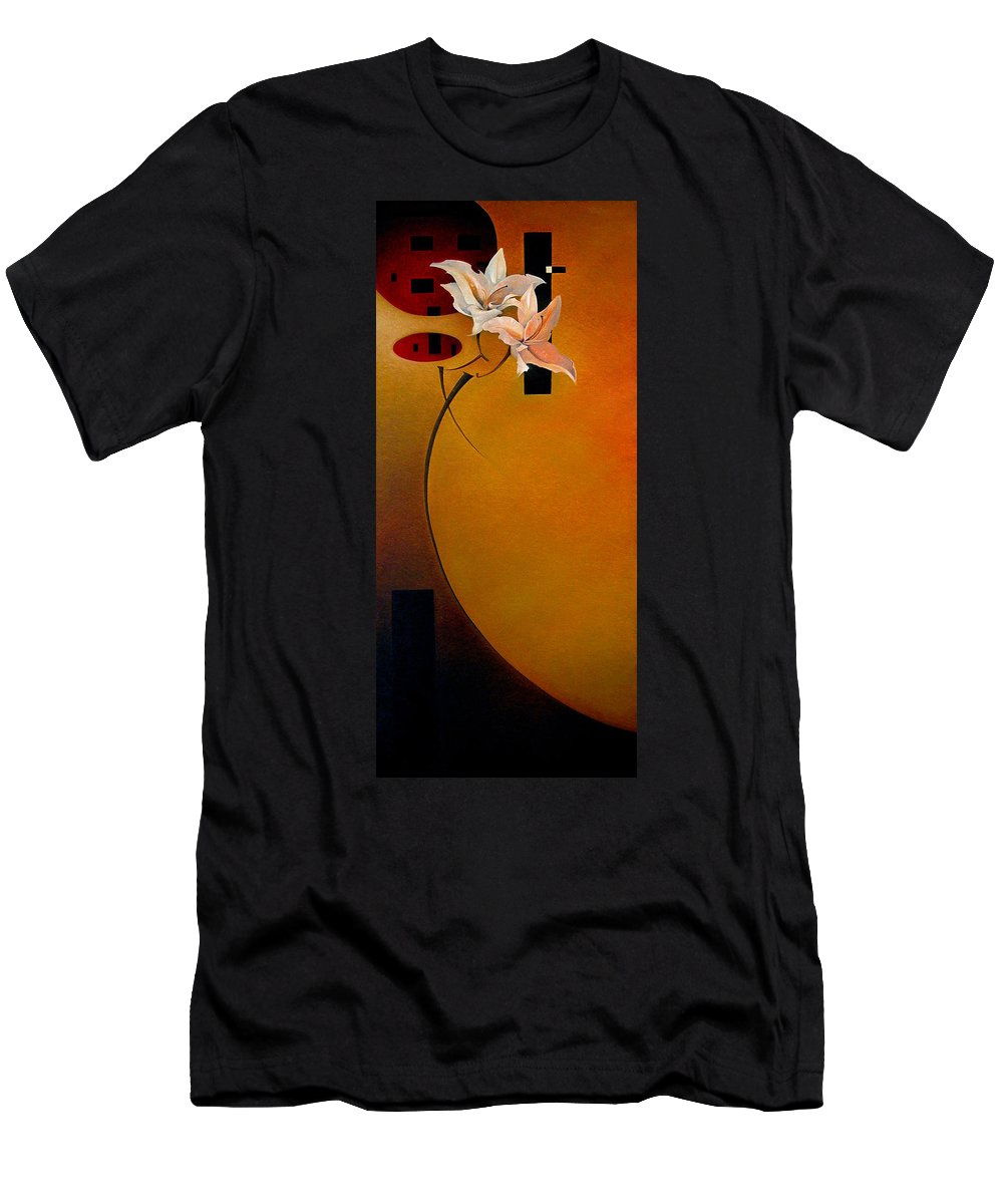 Floral Men's T-Shirt (Athletic Fit) featuring the painting The Rise Of Pompeii by T S Carson