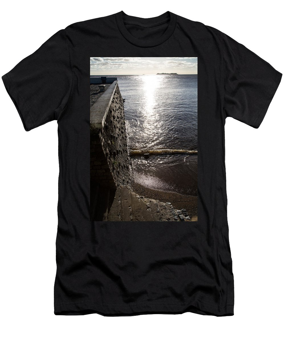 John Daly Men's T-Shirt (Athletic Fit) featuring the photograph The River's Edge by John Daly