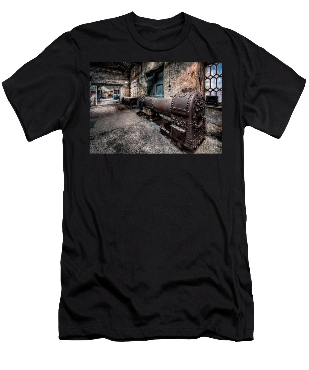 British Men's T-Shirt (Athletic Fit) featuring the photograph The Riveted Boiler by Adrian Evans