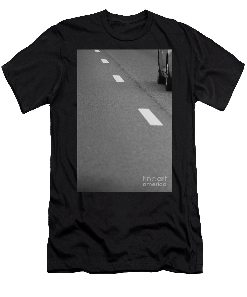 Black And White Men's T-Shirt (Athletic Fit) featuring the photograph The Road by Jennifer E Doll