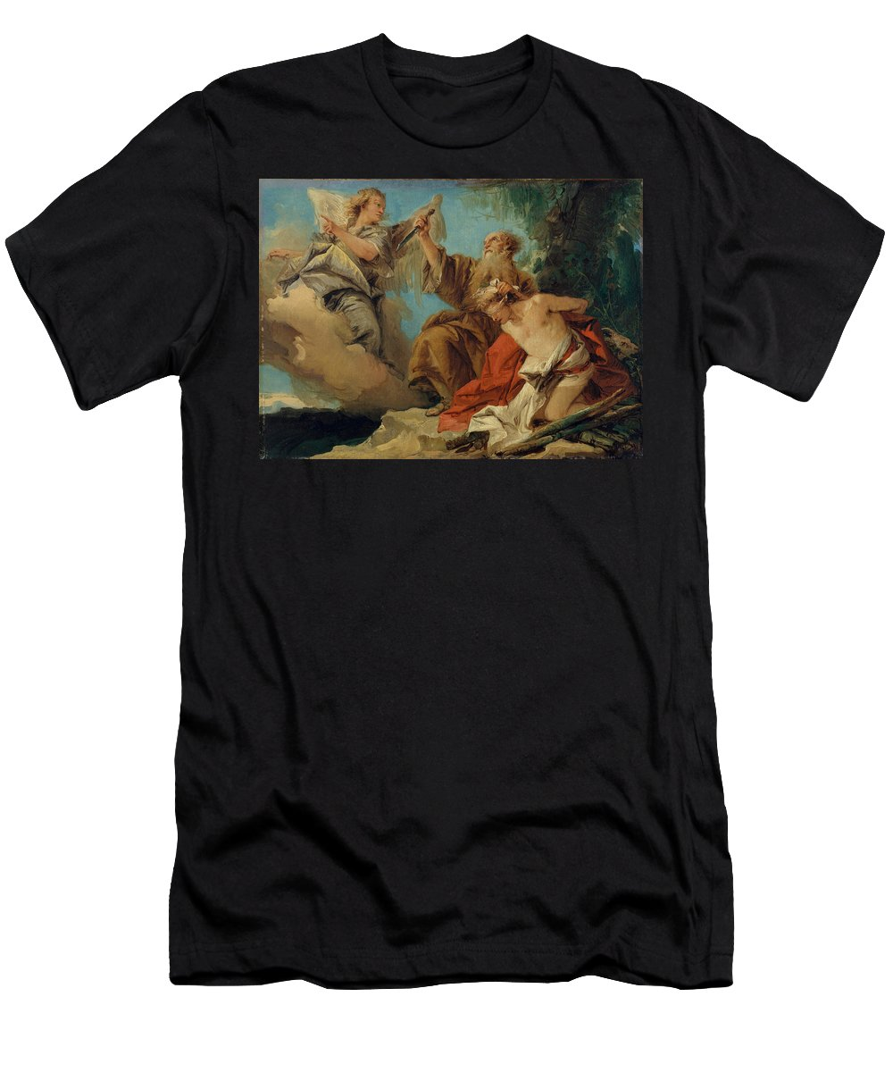 Giovanni Domenico Tiepolo Men's T-Shirt (Athletic Fit) featuring the painting The Sacrifice Of Isaac by Giovanni Domenico Tiepolo