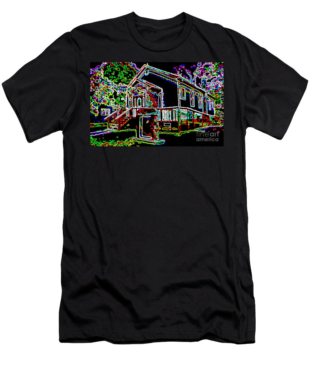 Historic Buildings Men's T-Shirt (Athletic Fit) featuring the photograph The Sanctuary by Alys Caviness-Gober