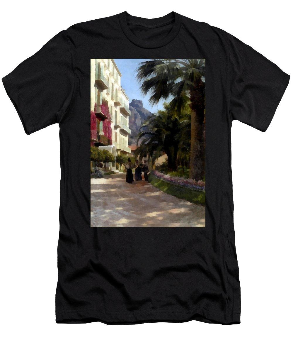 Peder Mork Monsted Men's T-Shirt (Athletic Fit) featuring the digital art The Serenade by Peder Mork Monsted