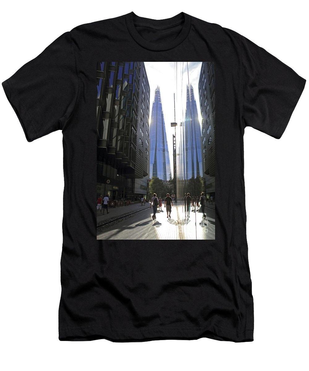 The Men's T-Shirt (Athletic Fit) featuring the photograph The Shard London by Julia Gavin