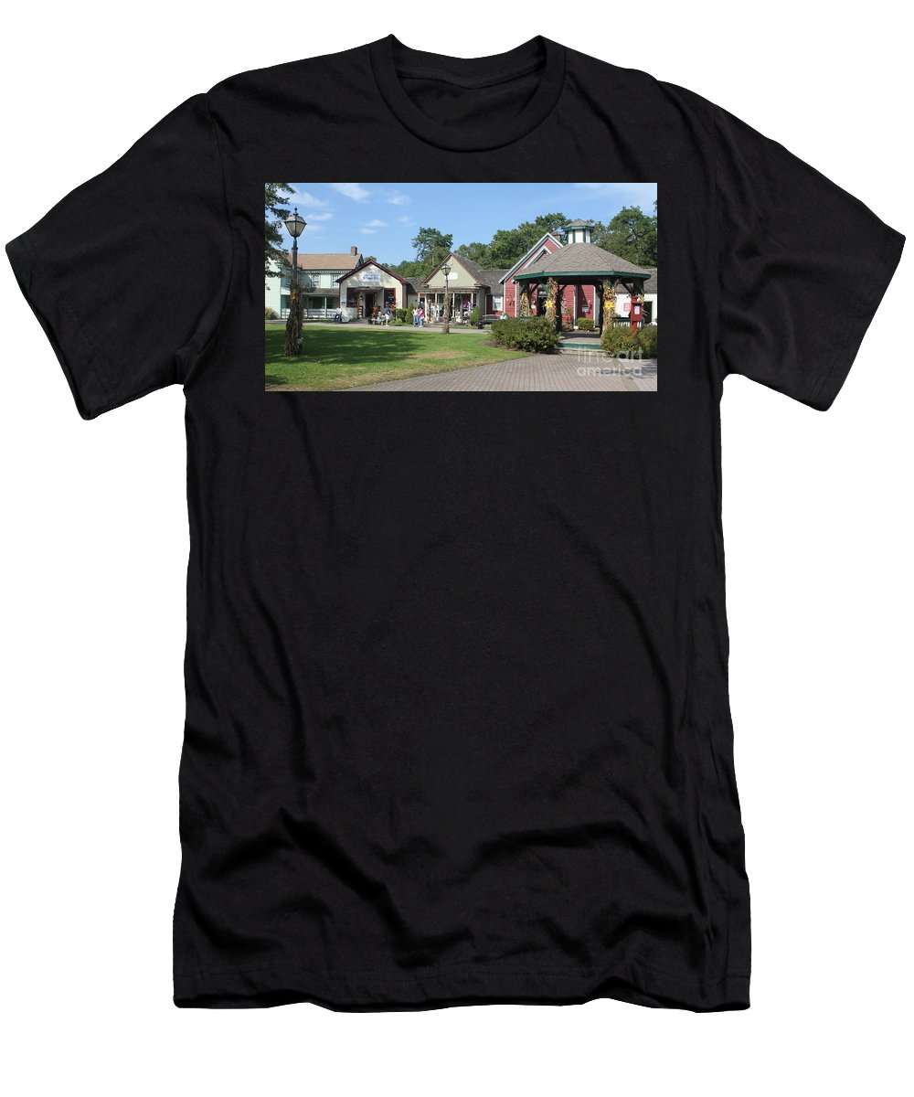Historic Men's T-Shirt (Athletic Fit) featuring the photograph The Shoppes by Christy Gendalia