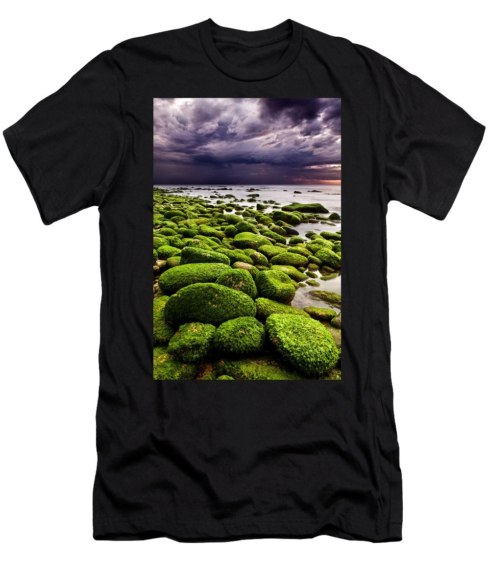 Waterscape Men's T-Shirt (Athletic Fit) featuring the photograph The Silence After The Storm by Jorge Maia