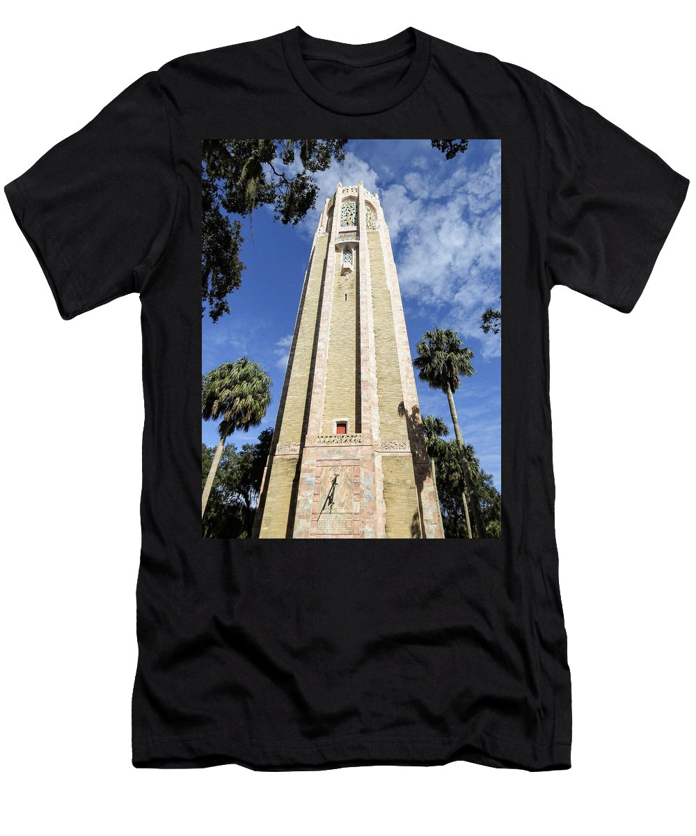 Singing Tower Men's T-Shirt (Athletic Fit) featuring the photograph The Singing Tower by Zina Stromberg