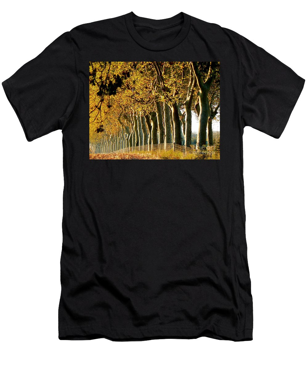 Fall Men's T-Shirt (Athletic Fit) featuring the photograph The Sisters by France Art