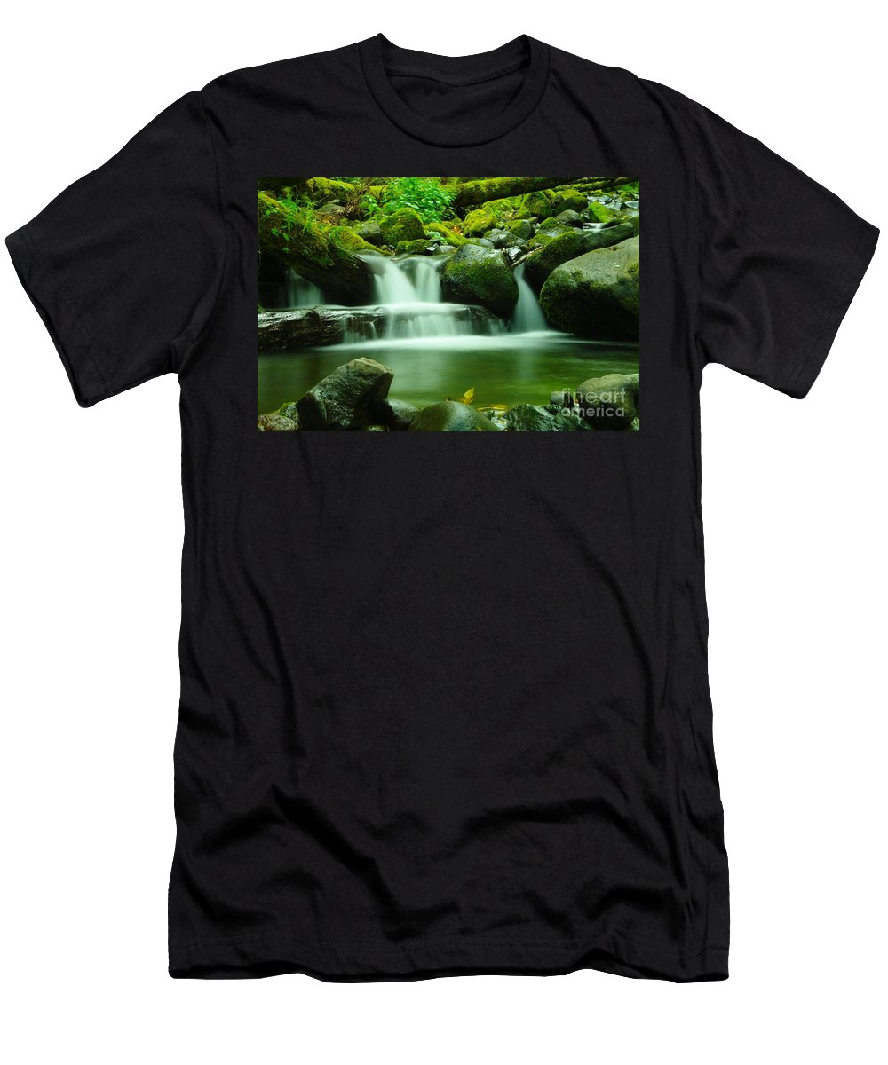 Water Men's T-Shirt (Athletic Fit) featuring the photograph The Small Water by Jeff Swan