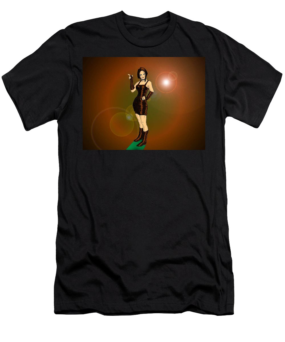 Fan Men's T-Shirt (Athletic Fit) featuring the digital art The Solar Fan by XERXEESE Color Schemes