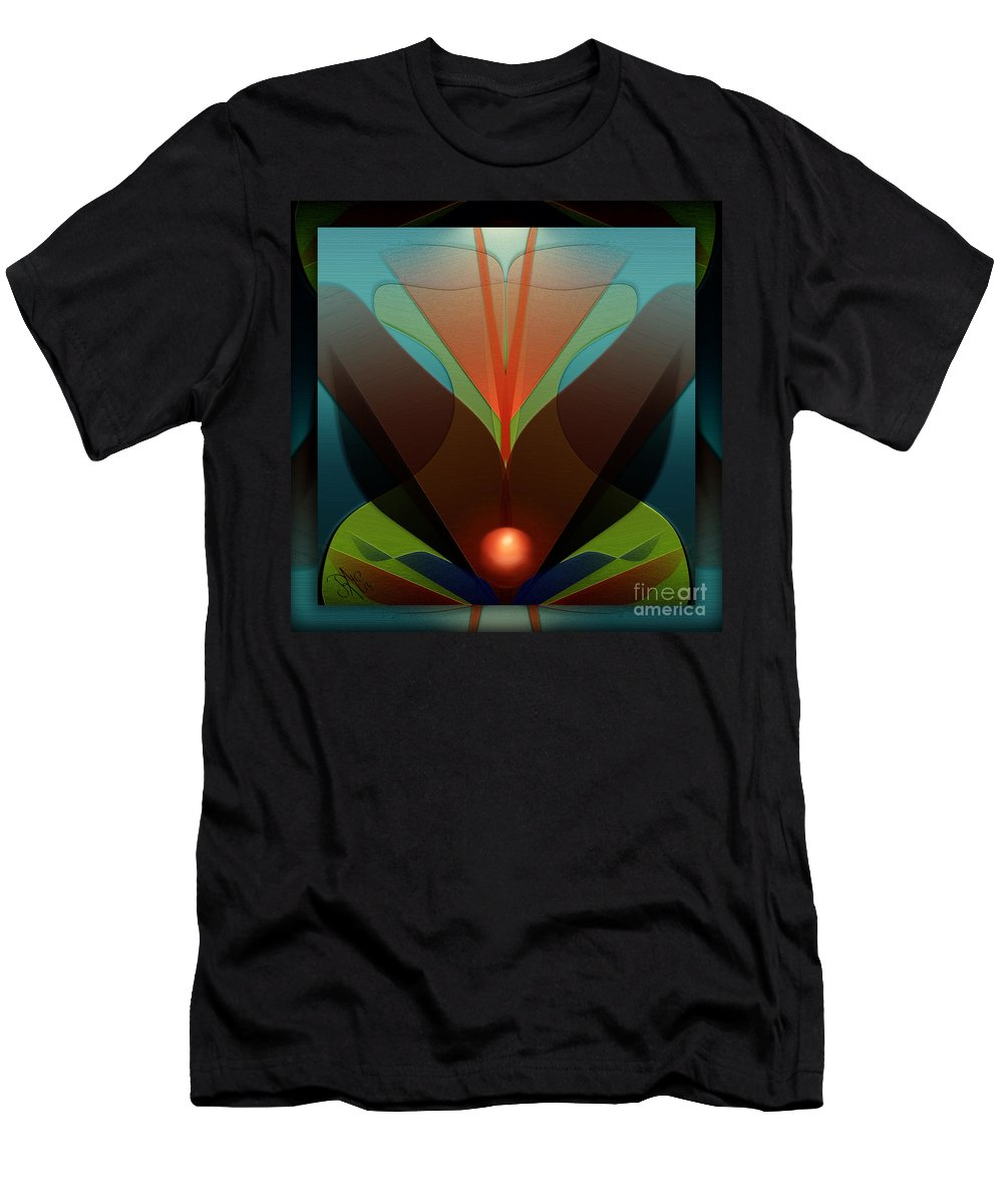 Sphere Men's T-Shirt (Athletic Fit) featuring the digital art The Soul Vase by Rosa Cobos