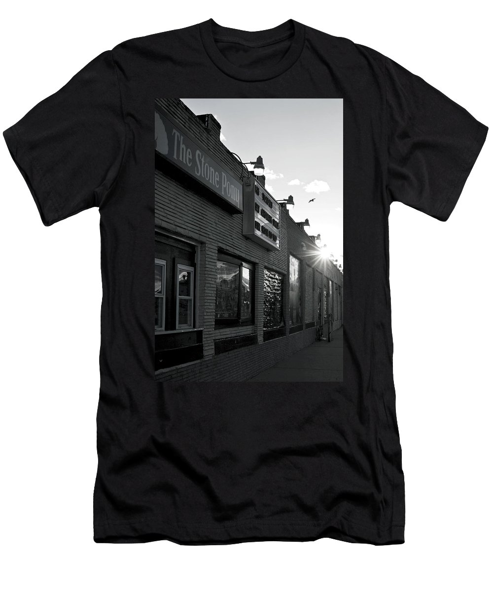 The Stone Pony Asbury Park Side View T-Shirt featuring the photograph The Stone Pony Asbury Park Side View by Terry DeLuco